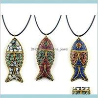 Colgante joyería bonitos collares moda evade pez étnico cuello de étnico placa nepal joyería portátil mandas vintage bodhi colgantes