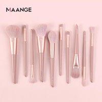 Makeup Brushes MAANGE 10 Pcs Set Tools Foundation Blush Powder Concealer Blending Make Up Brush Soft Facial Beauty Cosmetics