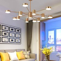 Pendelleuchten Modernes Esszimmer Kronleuchter Beleuchtung Gold Schwarz Lampe LED Lampe Wohnküche Schlafzimmer Indoor Hanging Light Fixtures