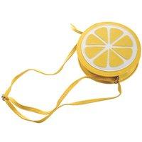 Dog Car Seat Covers Women Messenger Bags Shape Small Mini Bag Circular Crossbody For Girls Cute Handbag(Yellow)