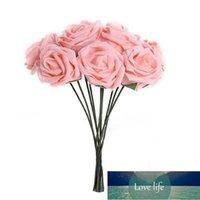 Fiori decorativi Corone 10pcs Fiore Artificiale Schiuma Rosa Bridesmaidata Bridal Bouquet da sposa Party Decor Light Rosa