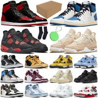 1s 4 jumpman zapatillas de baloncesto para hombre University Blue Hyper Royal White Oreo cactus jack zapatillas deportivas para mujer