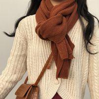 Scarves Winter Scarf Warm Men's Solid Color Imitation Cashmere Cross Border Promotion Women's Shawl Wholesale
