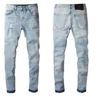 Men's jeans designerjeans high quality denim luxury motorcycle hole retro low waist tear fold suture dunk new golf men'swear 2021