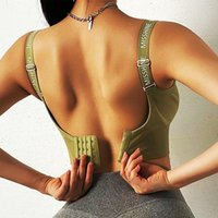 Yoga Outfit Cloud Hide Sports Bra Sexy Letter Crop Top Women Push Up Underwear Shockproof Fitness Vest Girls Gym Shirt Sport Sportswear