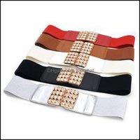 Cinturones Aessiesorsbelts 68cm Femenino Femenino Cintura negra Cintura ancha Elástico Cinturón Elástico para Mujeres Cinch Abrigo Ropa Aessories Dro
