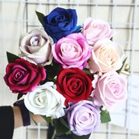 51x7cm Rose Pink Silk Peony Artificial Flowers Bouquet Big Head And Bud Fake For Home Wedding Decoration Indoor Decorative & Wreaths
