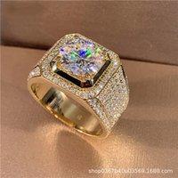 Créateur de luxe S925 Sterling Sterling Sterling Bague d'incroyance 18K Gold D-Color Moissanite Anneaux Grand Livraison Gratuite