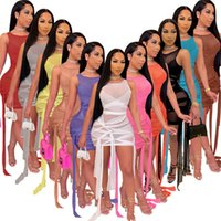 Women Night Club Wear Sexy Sheer Dress Plus Size Mesh Miniskirt Sleeveless Skinny Bandage One-piece Dress Fashion Package Hip Skirt 2021