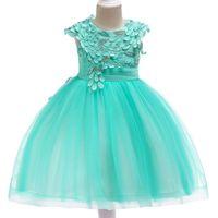 Vestido niña niños para bodas y fiesta vestido de bola de malla chicas de verano 3 5 8 9 10 años Niños Robe Princesse Vestidos de niña