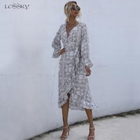 Casual Dresses Dress Autumn Spring Floral Print Ruffle Waist Fitted Womens Clothing White Long Sleeve For Women Fall 2021
