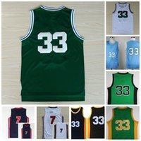 Vintage 33 Jersey Sycamores Basketball College Jerseys 1992 Team High School Vert Blanc Blanc cousu