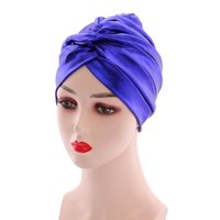 Beanie Skull Caps Fashion Multicolor Bonnets Hair Wrapped Cover Pleated Hats Loss Cap Party African Shinning Female Beanie Turban