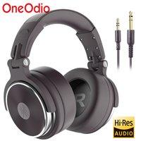 OneoDio Pro-50 estéreo fones de ouvido com fone de ouvido profissional do DJ do fio do estúdio com microfone sobre os fones de ouvido baixos do monitor da orelha