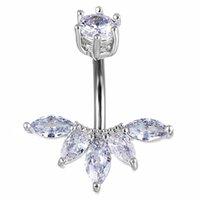 Удобное кольцо с двуглавой короной Zircon Zircon Zircone Steel Belly Piercings Nails Bell Rings