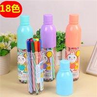 Painting Pens Brush set brush children's painting creative stationery prize FanFeng 18 color drift bottle washable