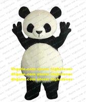 Versión encantadora China Gigante Panda Panda Bear Disfraz de Mascota Adulto Personaje de dibujos animados Tambor de negocios Hilarante divertido CX4018 Free Ship