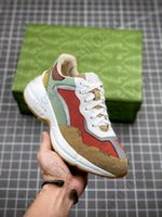 Rhyton Vintage Trainer Multicolor Sneakers Schuhe Männer Frauen Trainer Luxus Chaussures Damen Sport Schuh Designer Runner Sneaker Casual Printing Alt Dad