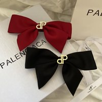 70%OFF Red and black B Bajia temperament spring clip bow hair accessories small fragrance ins fashion versatile women's net red hairpin R058