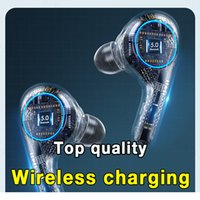 TWS Rename Chip pop up window Wireless Blutooth Earphone Metal connection Headset 2 3 D Stereo Sound Music In-ear Earbuds