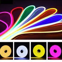 LED bande SMD2835 NEON Strings Strings lumières Dream Flexible Neons Panneau Panneau Light DC12V Imperméable IP65 pour chambre à coucher Mariage Party Signes Signes publicitaires Crestech
