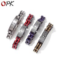 Cross-Border Hot Selling Accessories Fashion Mens Domineering Bicycle Ornament Motorcycle Chain Titanium Steel Bracelet
