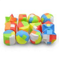 لعبة لوبان قفل خشك اللغز البلاستيك اللبنات الطلاب تفكيك اللعب