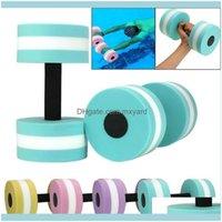 Haltères Équipements Fournitures Sports Outdoorbells 1pcs Fitness Aquatique Fitness Barbells Mousse Bar à la main Piscine Exercice détachable Aqua Dumbbells