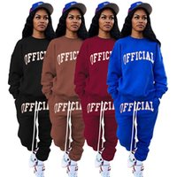 Women Tracksuits fall winter clothing 2 piece set cycling jogger sweatshirt pants sportswear pullover leggings outfits hoodies outerwear trousers bodysuit 01734