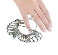 خاتم العصابة حلقة قياس أداة قياس الفولاذ المقاوم للصدأ خواتم الاصبع 0-13 A-Z 41-76 التحجيم مع نصف حجم 27 قطع مجموعة