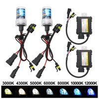 35W HID Xenon Healight Kit H1 H3 H7 H11 9005 9006 4300K 5000K 6000K 8000K 10000K 12000K Auto Headlamp With Slim Ballast 12V