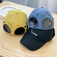 어린이 조종사 모자 소년 모자 안경에 소녀 뾰족한 모자 남성 선글라스 야구 모자 힙합 태양 모자
