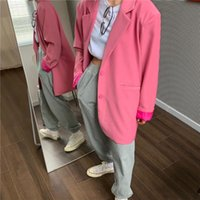Chic Loose Light Blazer Autumn Single Buttons Female Suit Jacket Full Sleeve Outwear Femme Women's Suits & Blazers