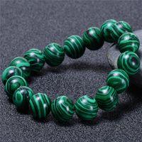 Beaded, Strands Charm Unisex Yoga Beaded Bracelet High Quality Natural Malachite Stone Beads Universe Rosary For Women Men Jewelry Gift