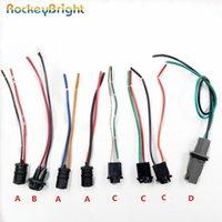 Rockyebright 2-4 قطع T10 W5W LED لمبة حامل المقبس كابل 194 مصباح الداخلية محول سلك تسخير موصل أضواء الطوارئ