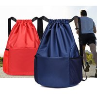 Sport Outdoor Pack Waterproof Backpack Foldable Gym Bag Fitness Drawstring Shop Pocket Hiking Camping Beach Swimming 2021 New Solid Color Men Women Bags