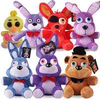 Пять ночей в Fnaf плюшевые игрушки Фредди FNAF 18см Фредди Фаз Медность Бонни Чика Фокс мягкие фаршированные игрушки кукла подарки для детей