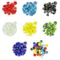 Craft Tools 100g / påse 7 Färger Vacker Millefiori Glas Stor Cirkelfusing Glasögon Mikrovågsugn Tillbehör för DIY Dekoration