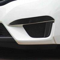 2st Carbon Fiber bil dimma ljus ögonlock ögonbryn klistermärke bil dekoration bil styling tillbehör till Honda passform / jazz 2014-2018