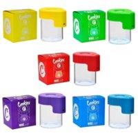 Lâmpada LED STASH JAR Cookies Mag Magnificar Exibindo Recipiente De Armazenamento de Vidro Caixa de Armazenamento USB Luz Recarregável Cheiro De Armazenamento Prova