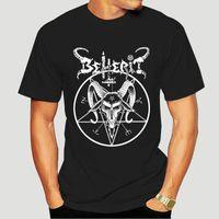 T-shirt da uomo Beherrit Pentagram T Shirt Nero Metallo Death Imperatore Blasfemy Dark Throne EST 2021 Uomo Fashion Top Tee Light 4691x