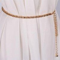 Cintos para Mulheres Cadeia Elegante Cintura Elegante Cintura Metal deixa Cintos de Luxo Diamante Feminino Feminino Cintura Ceinture