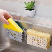 Kitchen Storage & Organization Dish Cloths Rack Punch-Free Wall Mounted Washing Sponge Soap Holder Clip Shelf Hook Racks Bathroom Supplies
