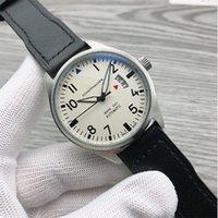 Luxury News Mens Watches Automatic Mechanical Stainless Steel Black Leather Simple 41MM PILOTS WATCH MARK XVIIOutdoor