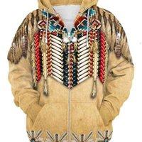 Tessffel Hint Yerli Kültür Harajuku Rahat Renkli Eşofman Yeni Moda 3Dprint Unisex Hoodie / Hoodies / Fermuar Erkek Kadın