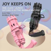New Design!DHL Kids Automatic Gatling Bubble Gun Toys Summer Soap Water Machine 2-in-1 Electric For Children Birthday Gift