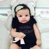 Brand Baby Girl Summer Clothes Body for Babies Romper Child Girl Rompers for Newborn Girls Print Digital My Little Black Dress 1171 X2