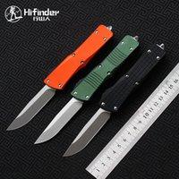 HIFINDER BLADE: D2 Griff: Aluminium S / E Stonewash Messer Camping Survival Outdoor EDC Jagd Taktische Werkzeugabendessen Kitchen Messer
