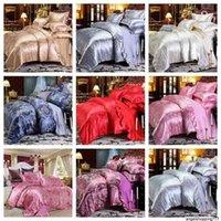 Luxury 2 или 3PCS Постельное белье Установите сатин Жаккардовые Доступные наборы с застежкой на молнии 1 Крышка одеяла + 1/2 наволочки США / ЕС / AU Размер