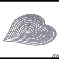 أدوات 10pcsset القلب الخياطة موضوع قطع يموت استنسل ل diy سكرابوكينغ الألبوم الزخرفية النقش ورقة بطاقة الحرف mzgsu iny2c